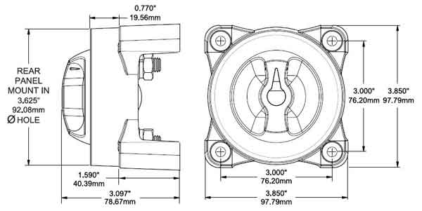 Blue Sea Systems E Series Battery Switch / Selector
