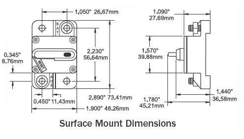bluesea systems bussman 185 surface mount