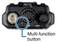 IC-M85E Multi Function Button