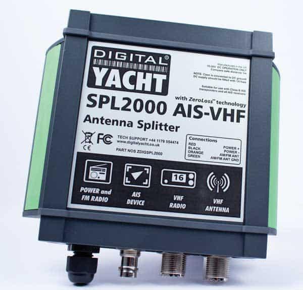 Digital Yacht SPL2000 ZeroLoss VHF / AIS Antenna Splitter - bluemarinestore.com