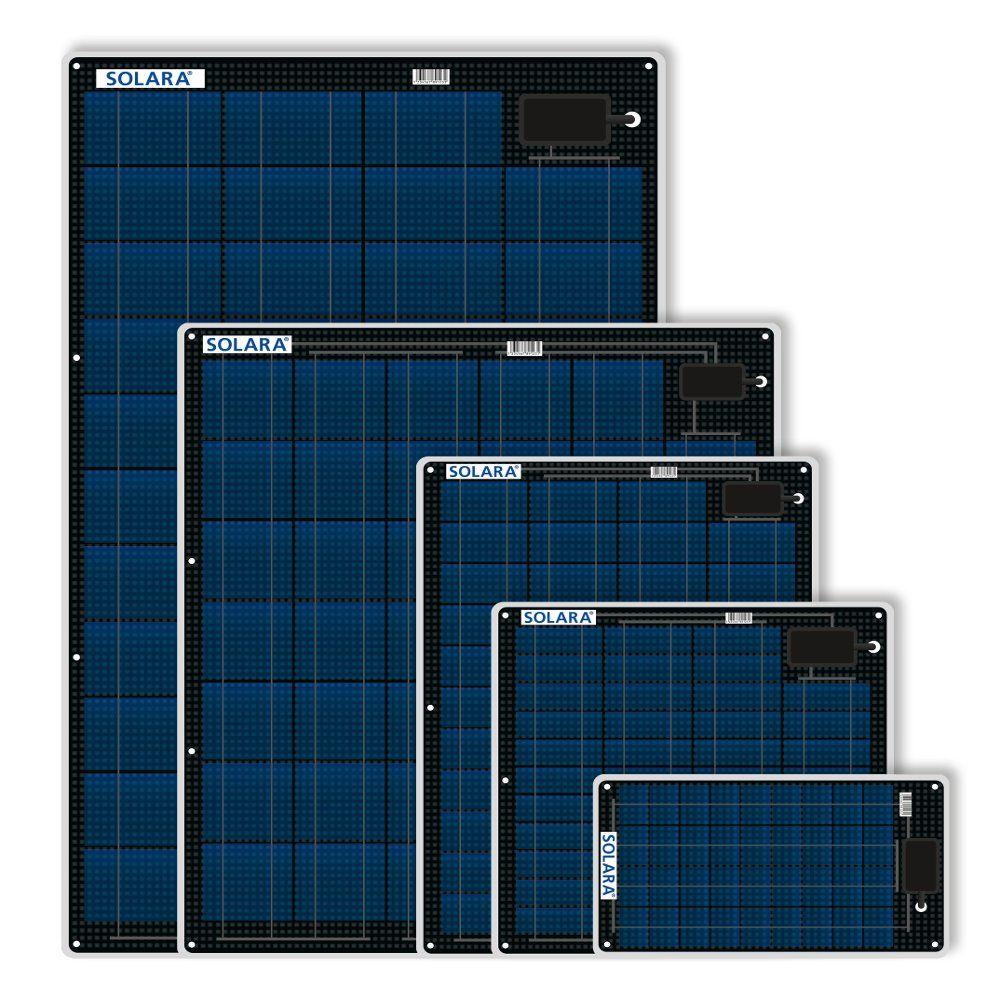 Solara M Series Semi Flexible Marine Solar Panels