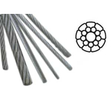 Stainless Steel AISI 316 (A4) 1x19 Compact Strand - bluemarinestore.com